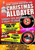 XMAS London Northern Soul All-Dayer  2012 Sunday 16th...