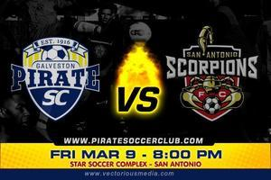 Scorpions vs Galveston Pirates this Friday 7:30 pm...