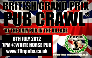 British Grand Prix Pub Crawl... At the only pub in the...