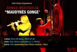 """HubVilnius Experience: Gongų Meditacija """"Maudynės..."""