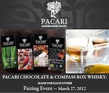 Pacari Chocolate & Whisky:     MADE FOR EACH OTHER...