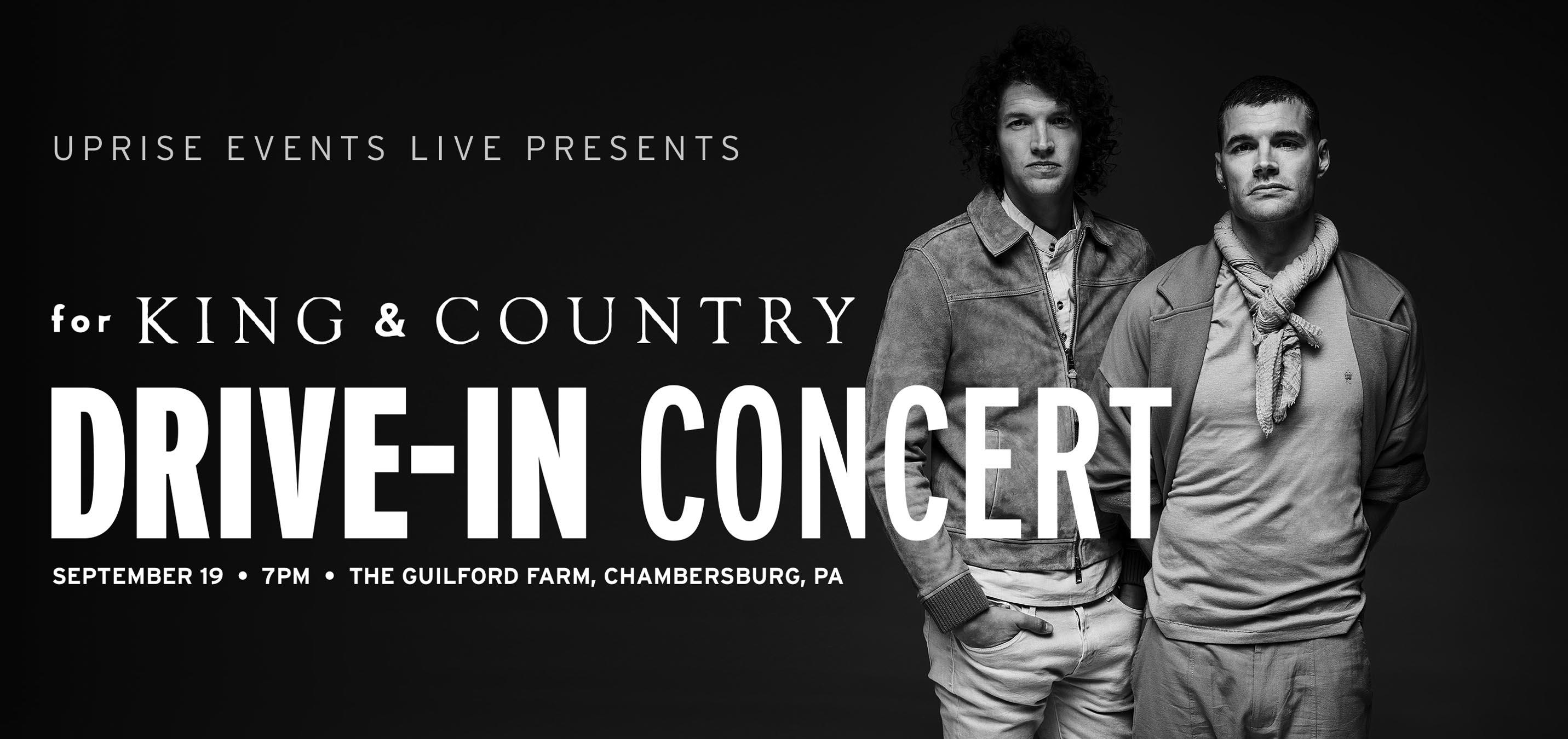 Chambersburg Halloween Concert 2020 for KING & COUNTRY: Drive In Tour Gates Open at 5:00PM   19 SEP 2020