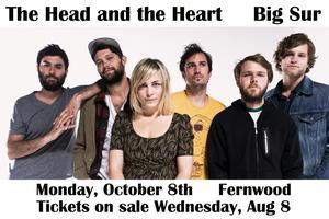 The Head and The Heart ::: Fernwood, October 8th :::...