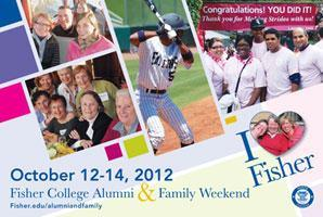 Alumni and Family Weekend Oct. 12 - 14, 2012