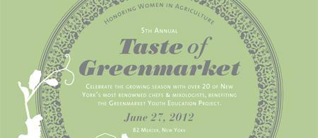 Taste of Greenmarket 2012