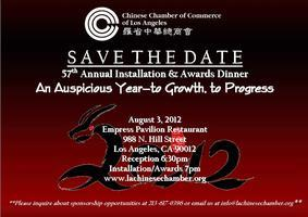 57th Annual Installation & Awards Banquet - contact us...