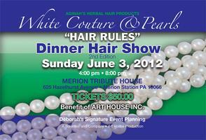 WHITE COUTURE & PEARLS DINNER HAIR SHOW