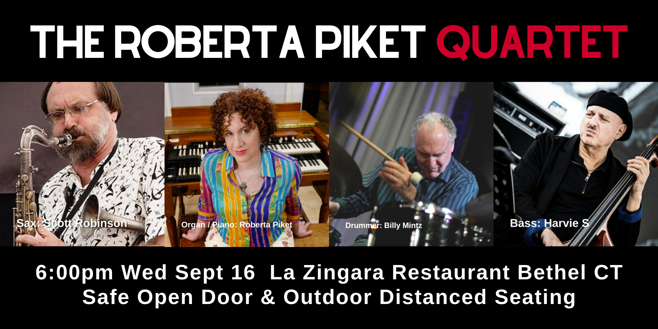 The Roberta Piket Quartet  JazZ  Returns To La Zingara 6pm Wed Sept 16