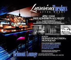 Lux  Tuesdays Afterwork free all night $7 drinks