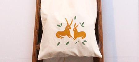 Printing Workshop: Hand Printed Tote Bags, Saturday...