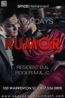 RUMOR SATURDAYS