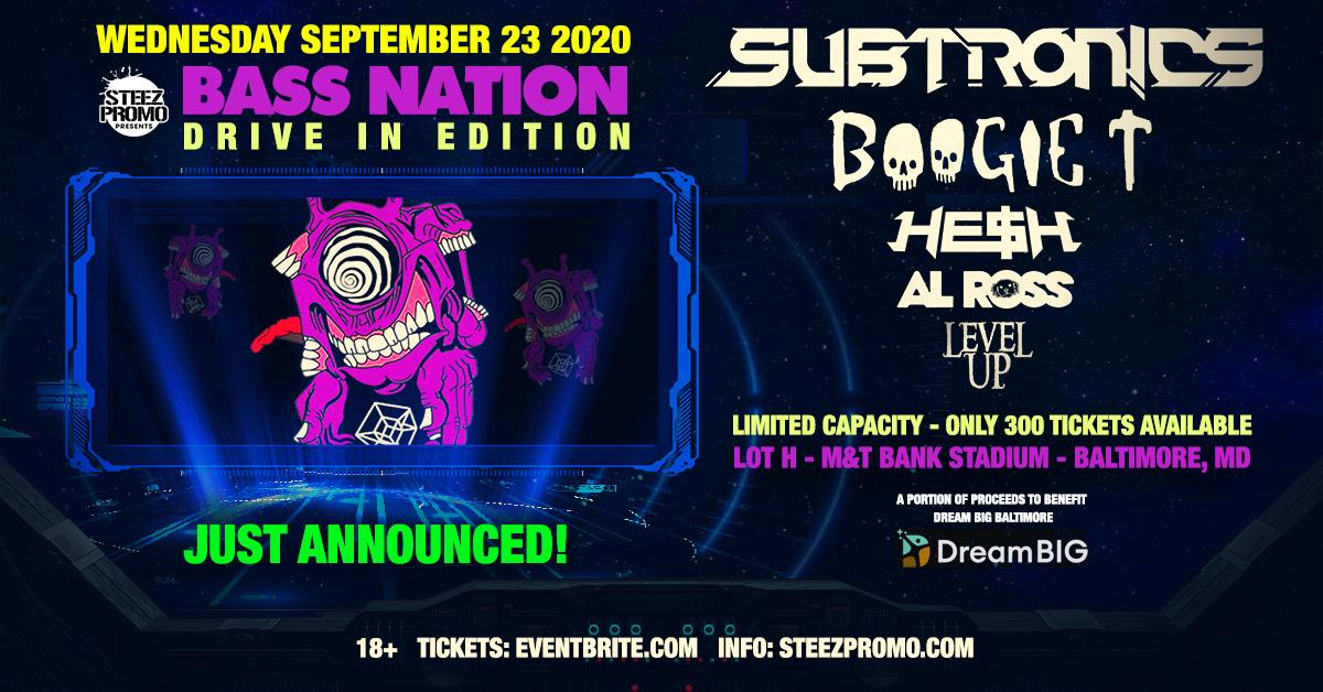 Bass Nation Baltimore: Drive In Edition feat. Subtronics, Boogie T, & More