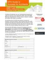 SPG Guide to   Success for Architects: online and...