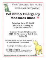 Pet CPR & Emergency Measures Class