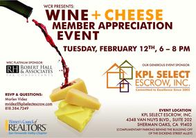 Wine & Cheese (A Member Appreciation Event)