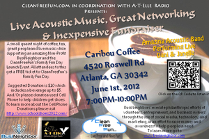 Live Acoustic Music, Great Networking & Inexpensive...