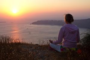 Sunset meditation hike