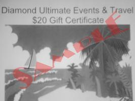 Diamond Ultimate Events & Travel  Gift Certificates