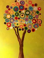 Create a Canvas - TREE PAINTING - Popular!!!!!