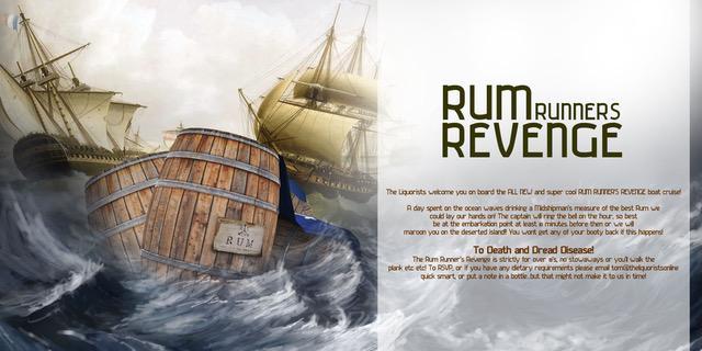 (18/50 Left) 'Rum Runners Revenge' Rum Cruise - 7pm (The Liquorists)