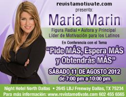 """Maria Marin     Conferencia    """"Pide mas. Espera mas y..."""