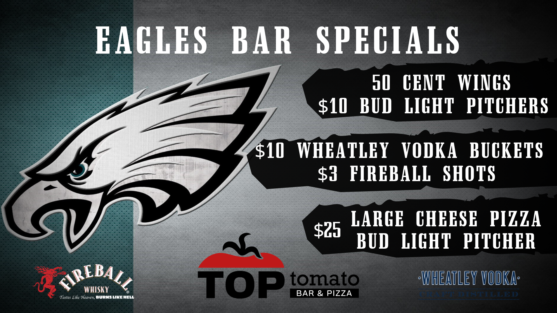 Eagles Watchparty at Top Tomato