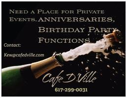Renting Space for Events @ Cafe DVille
