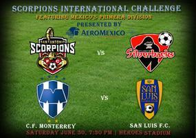 Scorpions vs Silverbacks & Monterrey Rayados vs San...