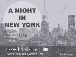 NGM Silent Auction & Dessert Night - A Night in New...