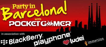 Party with Pocket Gamer, Playphone, Blackberry, Ludei...