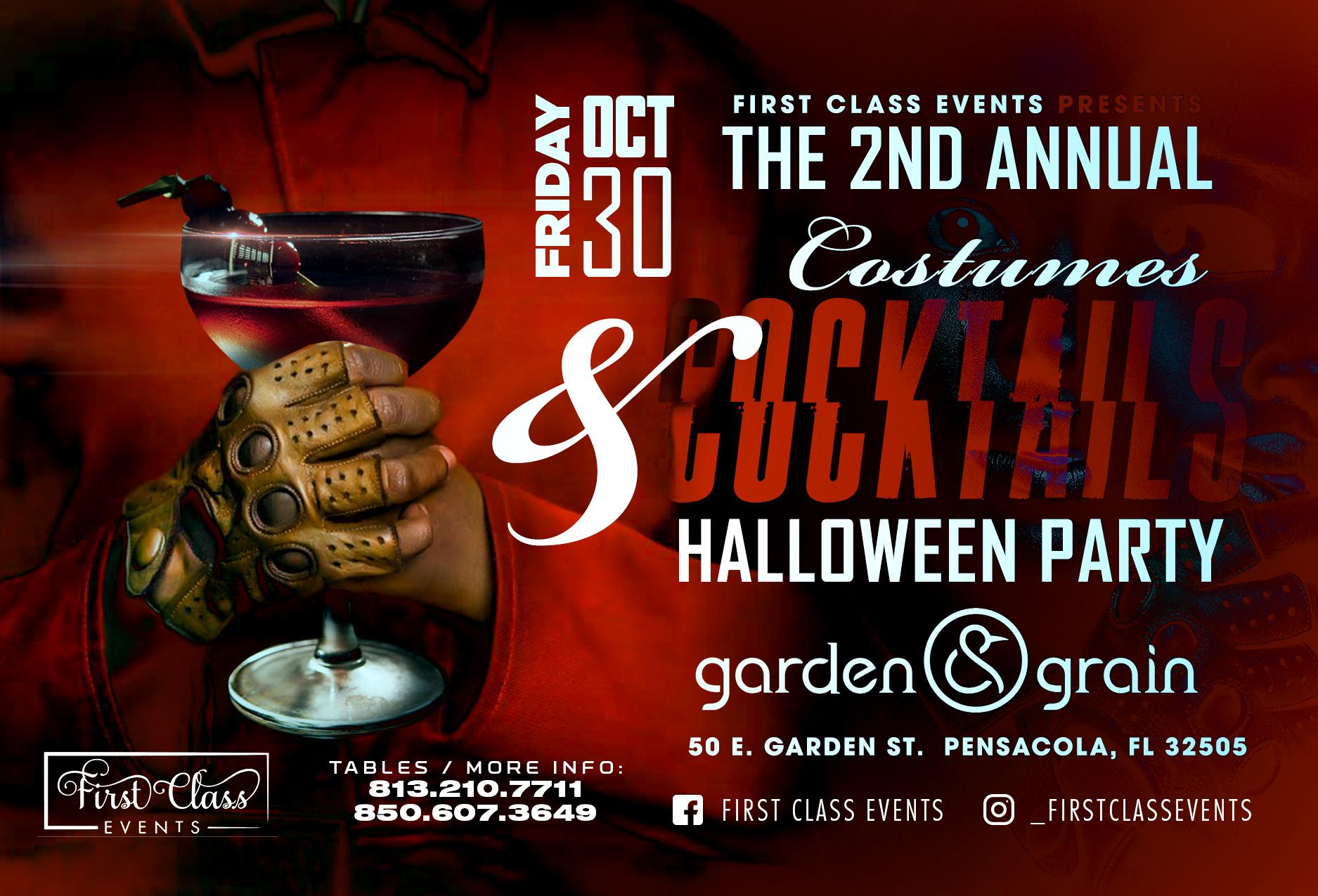 Halloween Pensacola 2020 The 2nd Annual Costumes & Cocktails Halloween Party   30 OCT 2020
