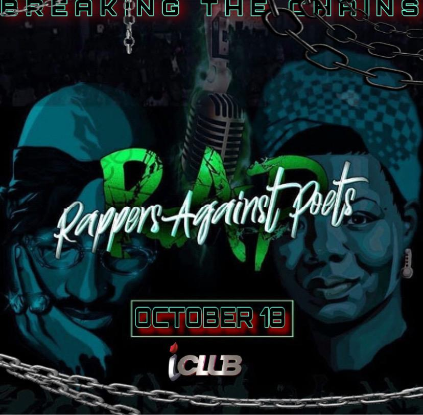 RAPPERS AGAINST POETS @ iCLUB  7PM SUN OCT THE 18