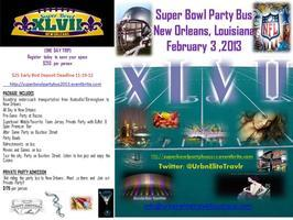 SUPER BOWL PARTY BUS