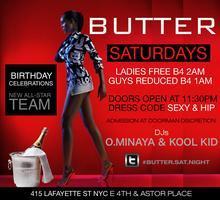 Saturday Nights at Butter Nightclub NYC