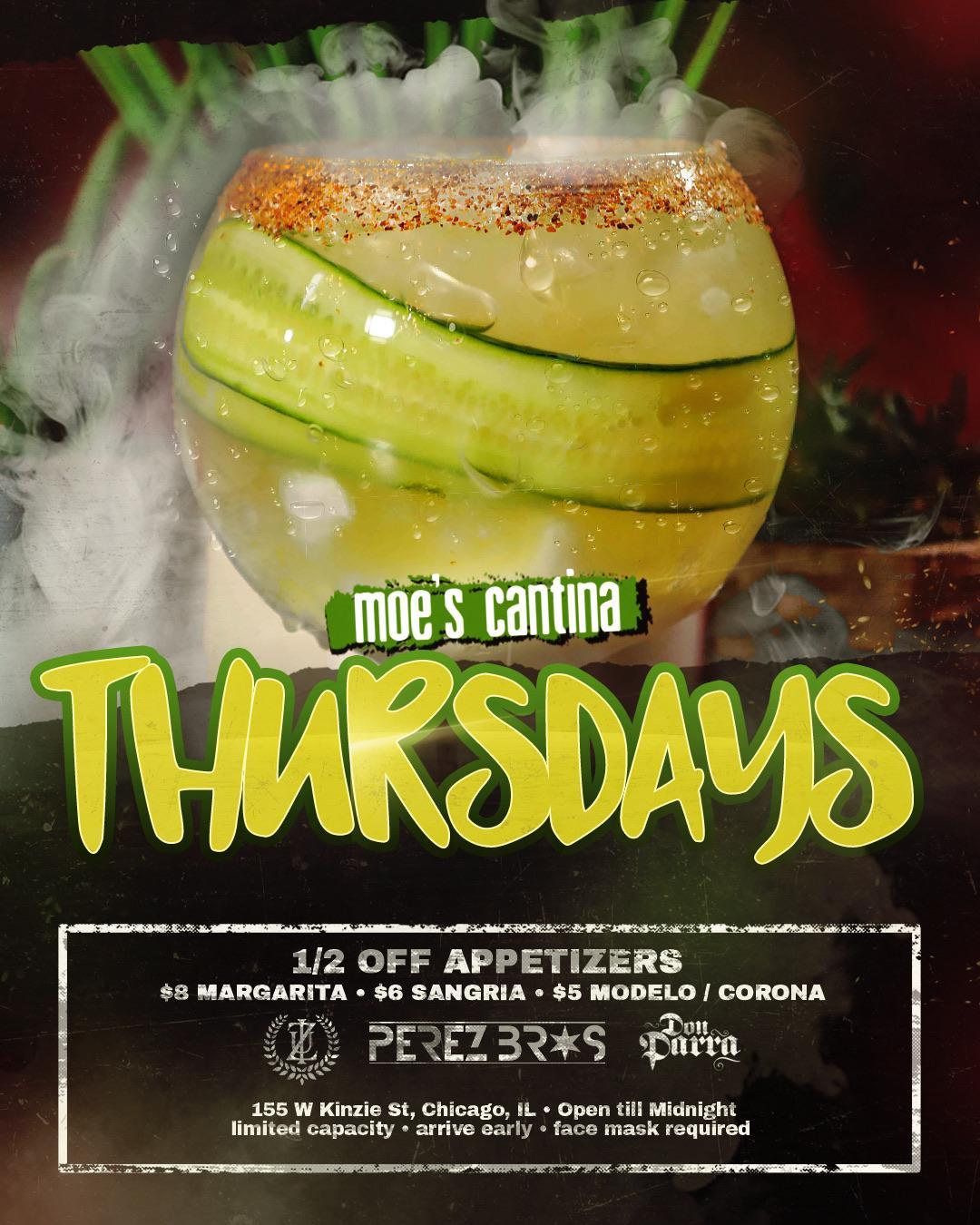 Moe's Cantina River North Happy Hour Thursdays