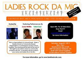 Ladies Rock Da Mic- Back to School Open Mic Edition
