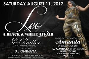 "LEO ""A Black & White Affair"" Amanda's Birthday Bash"