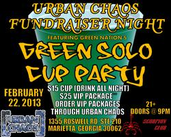 Urban Green Solo Cup Fundraiser Night