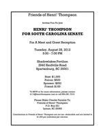 Meet n' Greet for Henri Thompson  Candidate for SC...