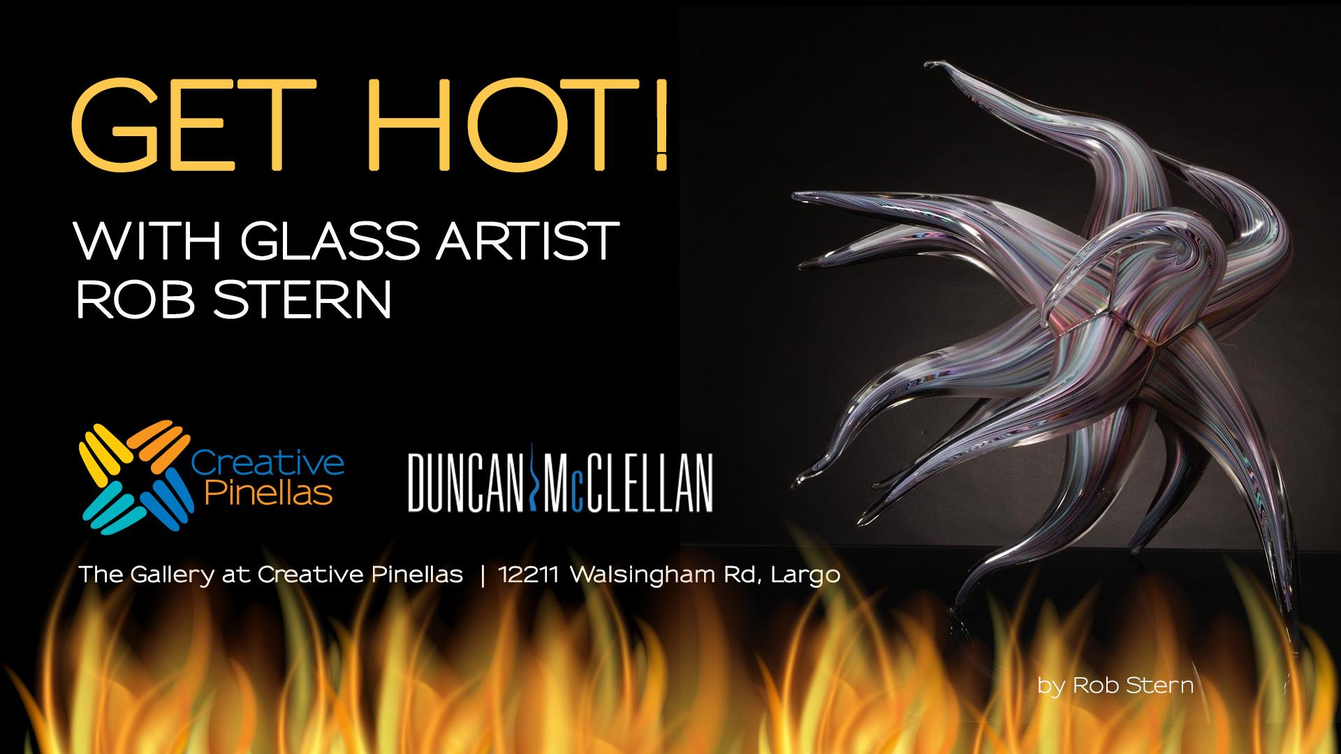 2020 Largo Christmas Show Rob Get Hot! Glass Etching Workshop with Artist Rob Stern   10 OCT 2020