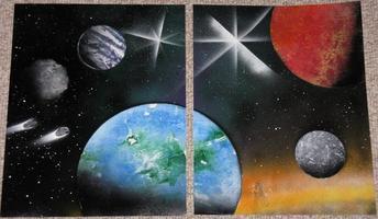 Painting Space Scenes
