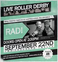 Live Roller Derby! ARRG Twisted Thistles Vs Sheffield...