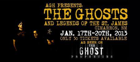 AGH PRESENTS: THE GHOSTS AND LEGENDS OF THE ST. JAMES!