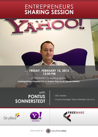 Startups Sharing Session with PONTUS SONNERSTEDT...