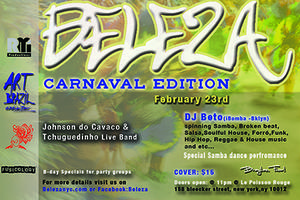 CARNAVAL NYC with Tchuguedinho Band & DJ Beto (iBomba...