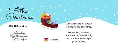 Father Christmas on his sleigh at Heartlands