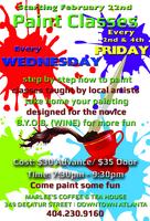 Paint Classes - Fun at Marlee's - BYOB (WINE)