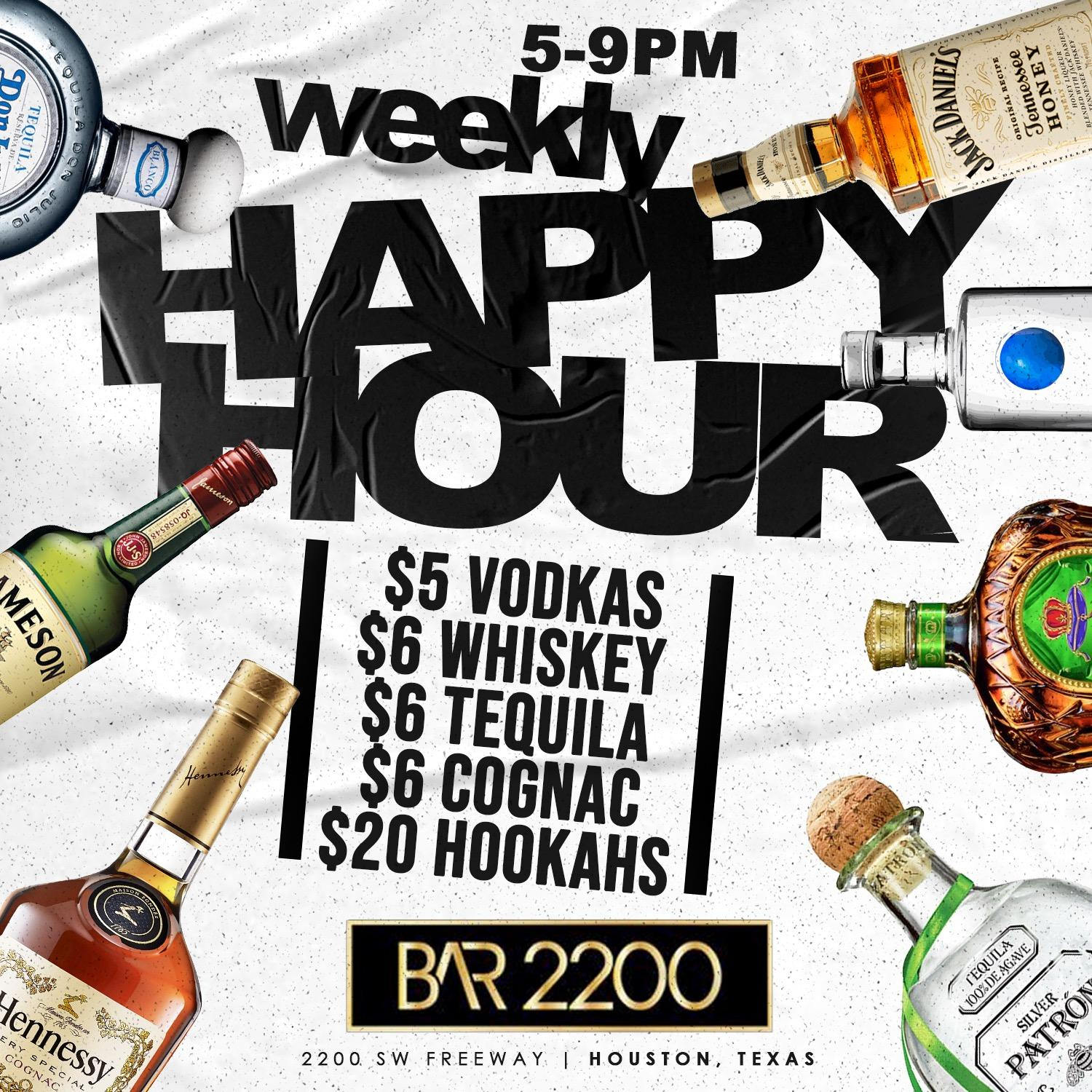 Tuesday's at Bar 2200  | Free Entry | Food | Hookah | Happy Hour | Music