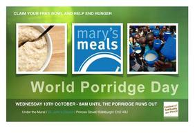 World Porridge Day Stall for Mary's Meals