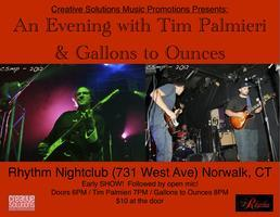 An Evening with Tim Palmieri & Gallons to Ounces